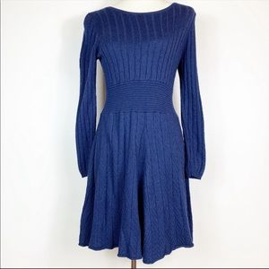 Jessica Simpson Navy Blue Knit Dress Size Medium